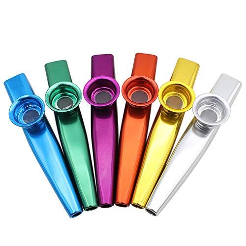 Kazoo Hochwertige 6 Stück verschiedene Farben von Metall Kazoo, ein guter Begleiter für Gitarre, Ukulele, Violine, Klaviertastatur, Partyzubehör