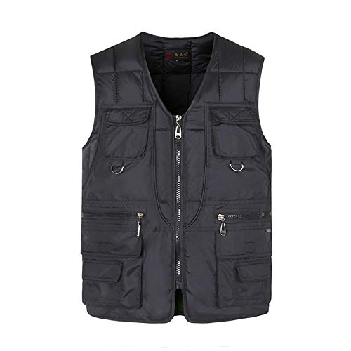 XFX1990 multi-pocket-katoenen vest winterdik warm multi-pocket-vest heren trenchcoat sneeuw zonder mouwen jas