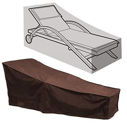 HFM Copertura per mobili da Giardino, Copertura per Sedia per Il Tempo Libero all'aperto, Copertura per Sedia da Giardino Impermeabile, Antivento, Anti-UV, Antipolvere (208x79x76cm),Marrone