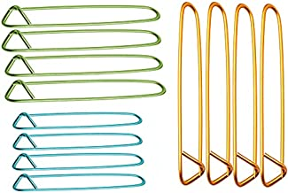 Fairycece 12pcs Aluminum Yarn Stitch Holders for Knitting Notions Or Crochet