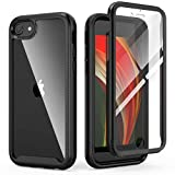 IDweel iPhone SE 2020 Case, iPhone 8 & 7 Case, iPhone SE 2nd Generation Case, Full-Body Durable Shockproof Case with Build in Screen Protector Heavy Duty Shock Resistant Hybrid Rugged Cover, Black