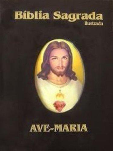 Bíblia ilustrada luxo - grande - preta: Grande - Ilustrada - Preta