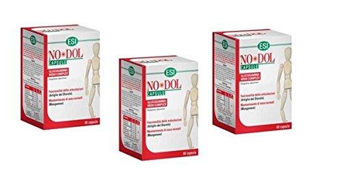 ESI NO DOL 60 CAPSULE nodol x flessibilità articolare con glucosamina no glutine - 3 CONFEZIONI