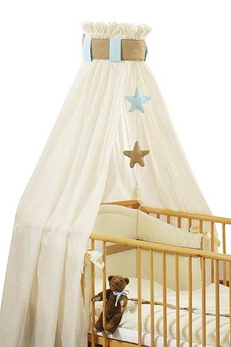 Christiane Wegner 310 00–102 – sängsetCappuccino för säng 70 x 140 cm, bestående av himmel med mobil, huvudskydd, sängkläder 100 x 135 cm och liten kudde 40 x 60 cm