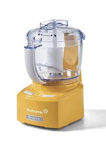 """Ariete 1767 Robomix Reverse Mini Robot da Cucina, Trita, Monta, Impasta Grazie alla Funzione""""Reverse"""", Lama Inox, Tazza 400 ml, Giallo"""