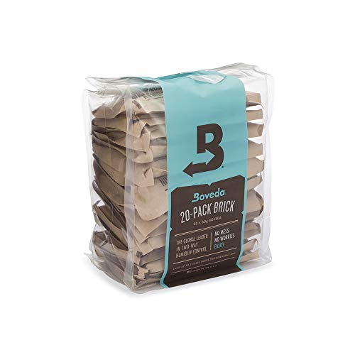 Boveda for Music | 49% RH 2-Way Humidity Control Replacement for Use in Fabric Holder | Size 70 for Fretted and Bowed Wood Instruments | Prevents Cracking and Warping | 20-Count Reclosable Bag