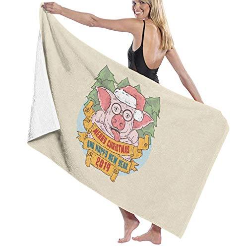 U/K Funny Pig - Toalla de baño (secado rápido)
