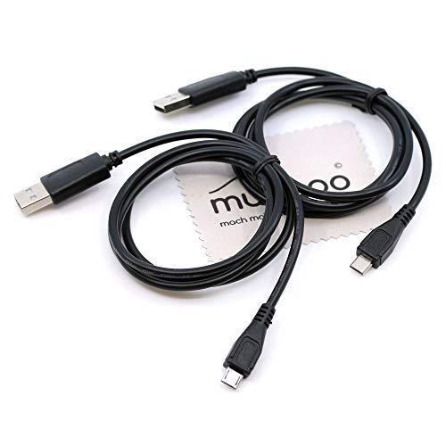 2 piezas 1m cable cargador para Playstation 4, PS4, PS4 Slim, PS4...