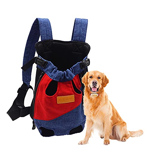 Danaba Bolsa de viaje portátil de dos hombros para mascotas mochila de cuatro esquinas bolsa de pecho para mascotas bolsa de gato bolsa de perro adecuada para perros pequeños y medianos (M)