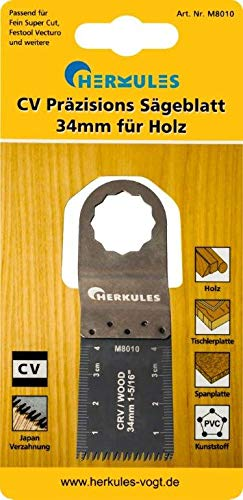 Hércules M8010 Festool vecturo fina super Cut CV de sierra de precisión para madera, para Multischleifer - Dimensiones: L=40 B=34, 1 T 0=, 6 TPI=14 - Für Material/características: madera, listones, tablero de partículas, plástico, Japón dentado