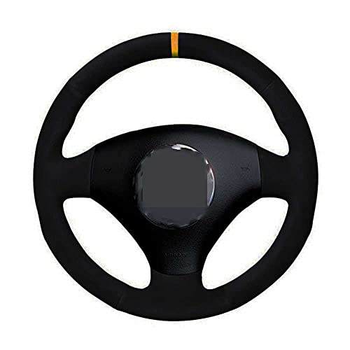 ZIMAwd Car Steering Wheel Cover Black Hand-Stitched Suede,For Audi A2 8Z A3 8L Sportback A4 B6 Avant A6 C5 A8 D2 TT 8N S4 S3 RS 6 RS 4