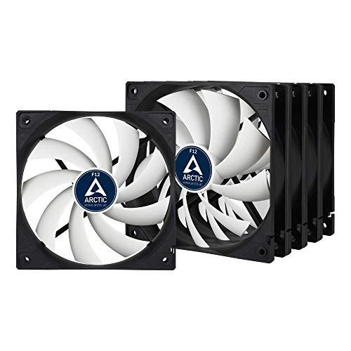 ARCTIC F12 Value Pack - 120 mm Standard Case Fan, Five Pack, Low Noise, Very quiet motor, Computer, Fan Speed: 1350 RPM - Black/White
