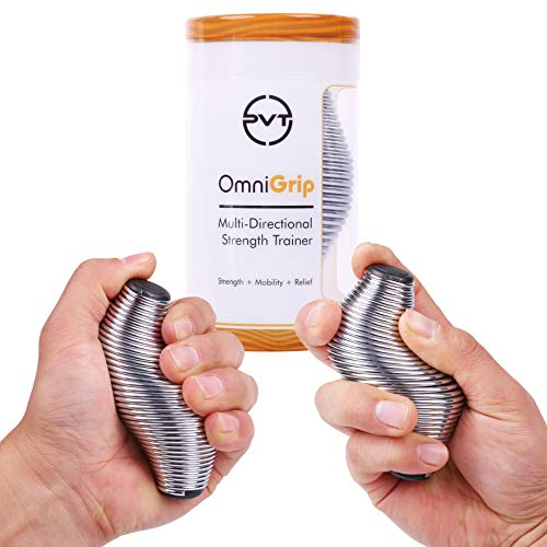 OmniGrip 2.0 Strength Trainer & Stress Ball - Hand Finger Thumb Exerciser Grip Strengthener | Anxiety Stress Relief Therapy