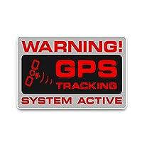 絶妙な車のステ 12.2x7.3CM車のステッカー警告警察システムがアクティブに顕著なデカールPVC 面白い車のステッカー