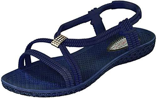 Siebi's Tenno Damen Dusch- und Bade Sandalen Schuhe Schwarz (41, Navy (Blau))