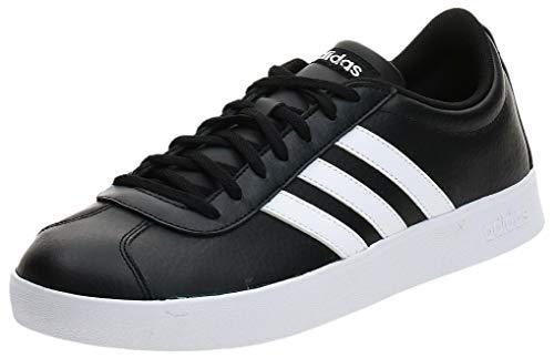 adidas VL Court 2.0, Scarpe da Ginnastica Basse Uomo, Nero (Black B43814), 43 1/3 EU