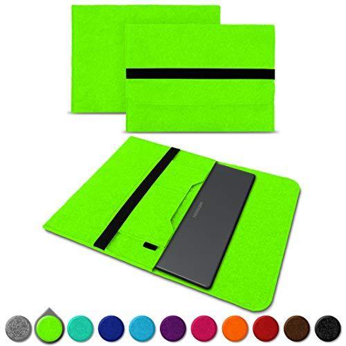 UC-Express Sleeve Hülle für Medion Akoya S3409 E4254 S4219 E3216 E3215 E3223 E4253 13-14 Zoll Tasche Filz Notebook Cover Etui Case, Farbe:Grün