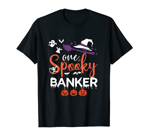 Un banquero espeluznante divertido banquero Halloween bruja ideas de disfraz Camiseta