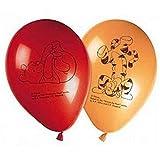 Procos 80724Printed Balloons–Winnie the Pooh, 8Pieces, Red/Orange