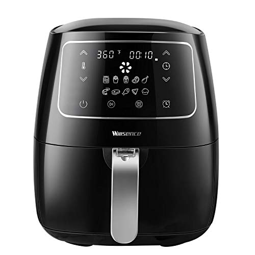 Air Fryer Willsence Hot Air Fryer Oven, 10 Cooking Presets with Led Sensor Touch, 3.7Qt Air Oven Auto Off, Detachable Basket and Dishwasher Safe, Recipes For Healthy Fried Food