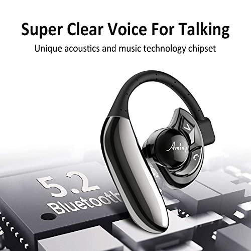 AMINY UFO Bluetooth Headset Auricular inalámbrico Bluetooth-Compatible con Android/iPhone/Laptop-Tiempo de 16 Horas de reproducción Auricular de Bluetooth V5.0 Auriculares inalámbricos con micrófono