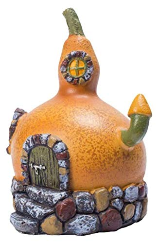 liuchenmaoyi Macetas Resina Craft Calabaza Casa de Hadas Estatua Miniatura Casa de Hadas Decoración al Aire Libre con decoración de hogar Planta de semillero