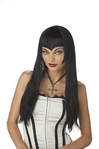 California Costumes womens vampiress costume wigs, Black, One Size US