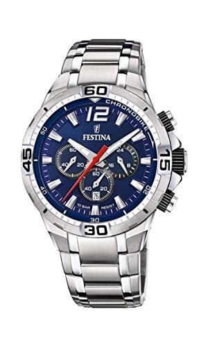Festina Herren Analog Quarz Uhr mit Edelstahl Armband F20522/3