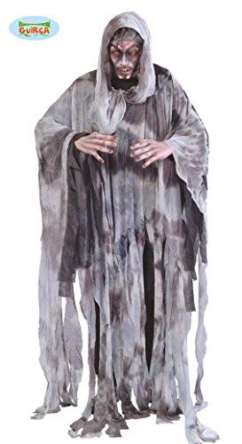 Guirca grafoplas Traje de Hombre Negro Fantasma, Color, 80445