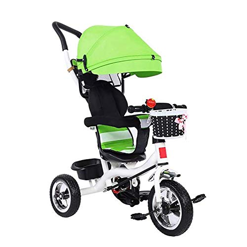 Kinderen Balance Scooters 3 Wheel Walker Scooters met luifel Kids Balance Sense trainingstoestellen Self Balance sudaijins (Color : Green)