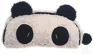 liyhh Panda Pattern Pencil Case Soft Plush Cosmetic Makeup Bag Pouch