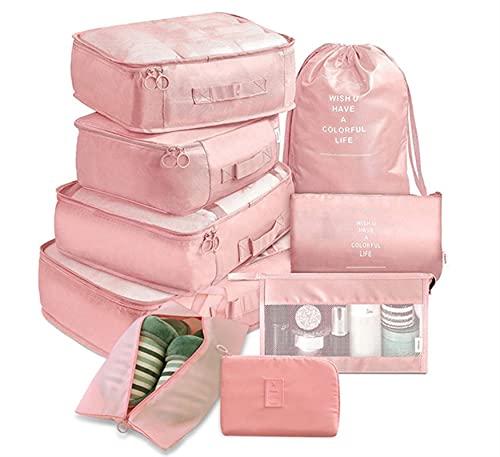Bolsa de almacenamiento de gran capacidad 9 piezas conjunto viajes organizador bolsas de almacenamiento maleta embalaje conjunto de cajas de almacenamiento portátil equipaje organizador ropa zapato or