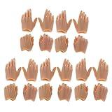 Baoblaze 10 Paar 1;6 Weibliche Soldatin Figur Hand Modell, Puppenhände für den...