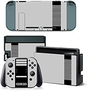 UncleSkins Nintendo Switch Console Dock Joy Con Skin Set Vinyl Decals Stickers Skin Wrap Covers-Cool Switch