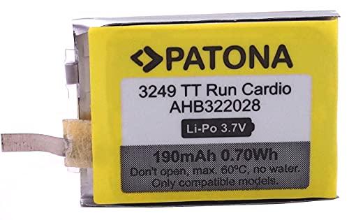 PATONA 3249 - Recambio para batería Tomtom 322028 - Compatible con Smartwatch Fitness Pulsera Tomtom Runner Cardio Golfer 1, Multisport