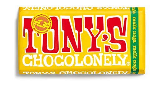 Torrone del cioccolato al latte equo e solidale   Tony's Chocolonely   Nougat al latte   Peso totale 180 grammi