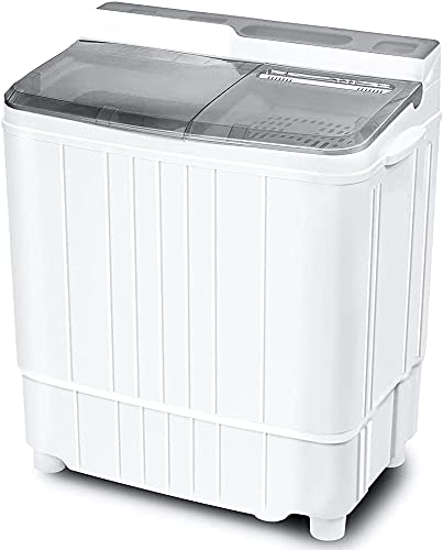 INTERGREAT Portable Washing Machine 17.6 lbs Mini Washer and Dryer Combo, Small Compact Apartment Washer Machine for Laundry, Camping, RV, Dorms, Semi-Automatic (Grey)