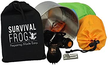 LifeShield Mini Tact Survival Kit by Frog & CO - Emergency Whistle, Mess Kit, Emergency Sleeping Bag, Flashlight
