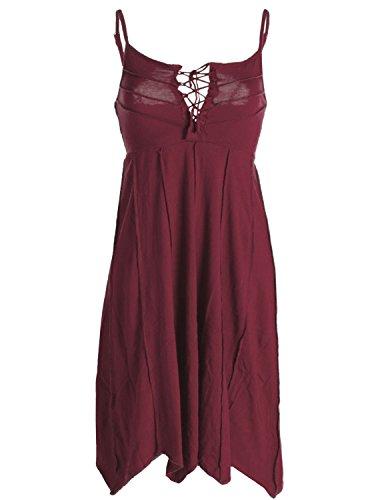 Vishes - Alternative Bekleidung - Leichtes Sommerkleid mit verstellbaren Trägern dunkelrot 46 (3XL)