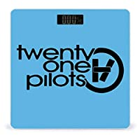 Twenty One Pilots 体重計、ステップオンテクノロジーを備えた精密デジタルボディバスルームスケール、強化ガラスイージーリードバックライト付きLCDディスプレイ