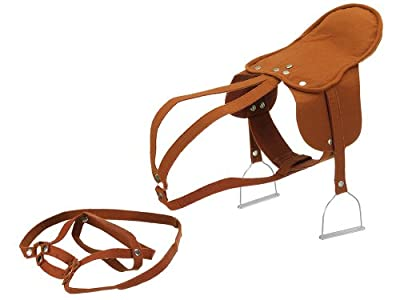 Happy People 58466 Saddle with Stirrup, Brown, Multi-Color