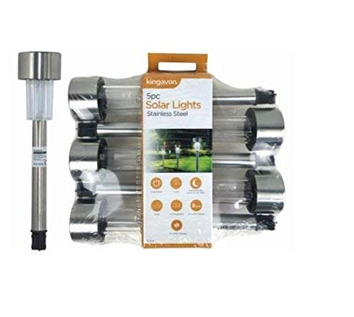 Kingavon luces Solar, Acero inoxidable, Acero, Plata