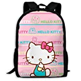 Mei-shop Mochila Informal Hello-Kitty Imprimir Cremallera Mochila Escolar...