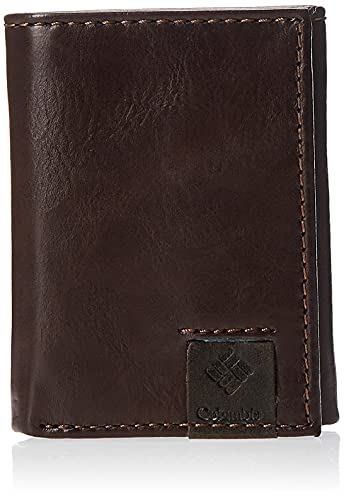 Columbia Men's RFID Trifold Wallet, Lofton Brown, One Size