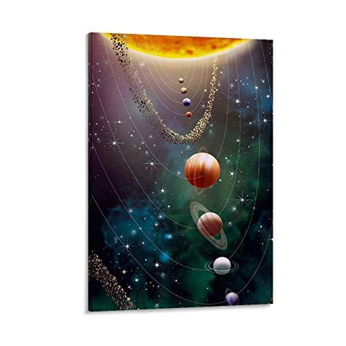 DRAGON VINES Solar System Planet - Póster decorativo para pared (30 x 45 cm)