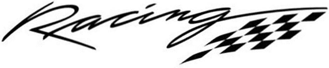 SGJIN Home Racing Letter Flag Car Styling Etiqueta engomada Decorativa Calcomanía Reflectante para Motocicleta Skateboard Snowboard Equipaje Maleta MacBook Car Bicicleta Parachoques ? Negro