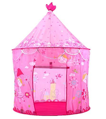 Beneyond Spielhaus für Baby, Kinder Tipi Prinzessin rosa, Burg Spielzelte , Zelthaus für Mädchen, Spielzelt Spielzeug für Jungen, Kinder Spielen Zelthaus
