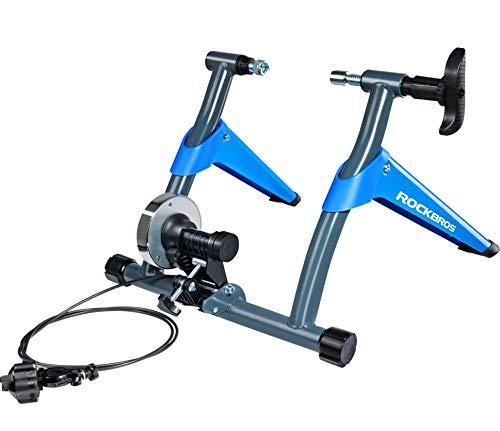 ROCKBROS Rodillo de Bicicleta Plegable de Resistencia Magnética Ciclismo Entrenamiento en Casa Carga Máxima 135KG Azul