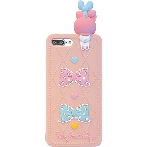 Thick Shockproof Soft Silicone Phone Case for Apple iPhone 12 Mini 12Mini Pink Color Bunny Rabbit Doll Bow Heart 3D Cartoon Protective Cute Lovely Fun Funny Kids Girls Women