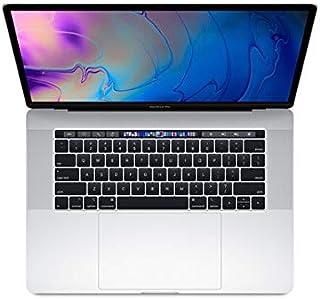 Apple MacBook Pro de 15 pulgadas con barra táctil (mediados de 2018), pantalla Retina de 220 ppp, Intel Core i7 de 6 núcleos, SSD PCIe de 512 GB, 16 GB RAM, macOS 10.13, plateado (renovado)